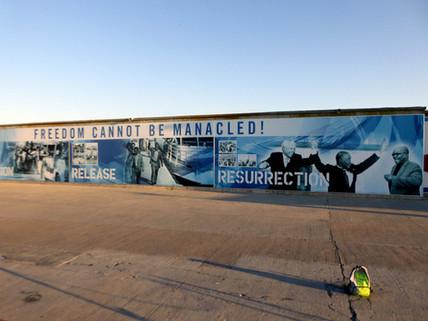 Wall on Robben Island
