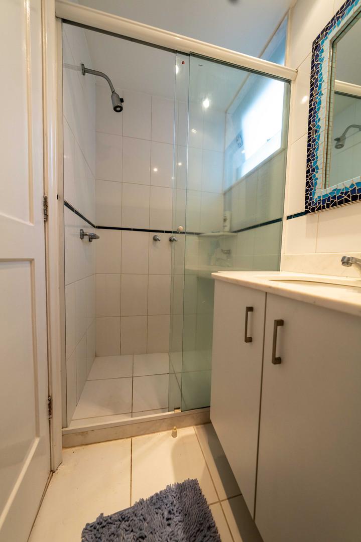 Shower in guest/bather bathroom social