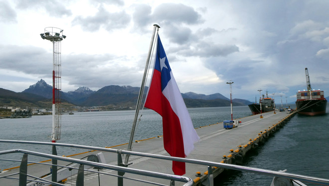 View of dock in Ushuaia
