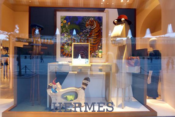 Store window in GUM department store