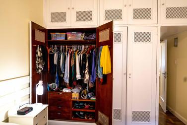 One closet open