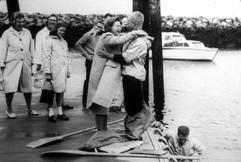 Our mother, Lilian Balboni Knight, hugs Chris