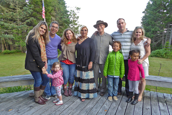 With our children and grandchildren