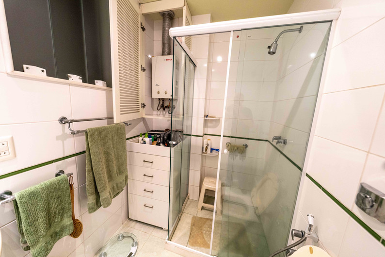 Master suite water heater and shower