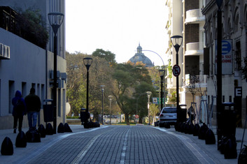 Street and park, Buenos Aires