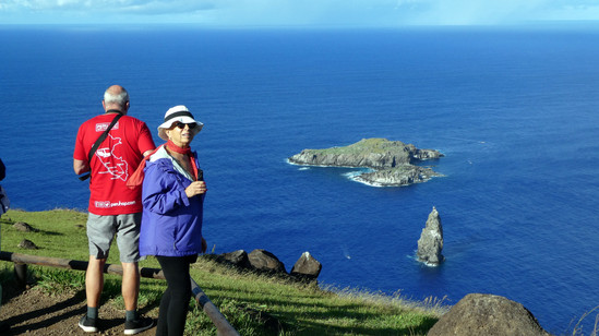 Looking to the birdman islands, Orongo