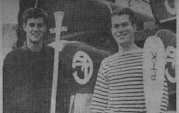 My Ledyard Canoe Club partner Jon Fairbank and I