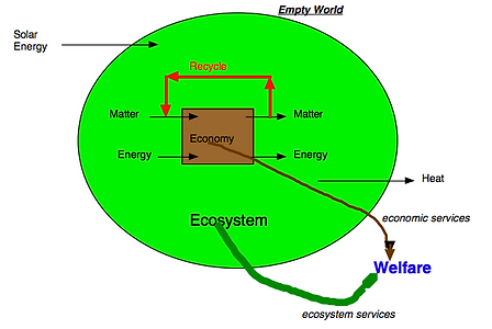 Empty Earth diagram from Herman Daly