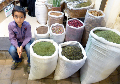 Boy with spices, Ishfahan, Iran