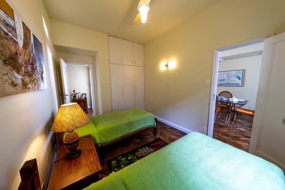 Second bedroom view toward 2 doors