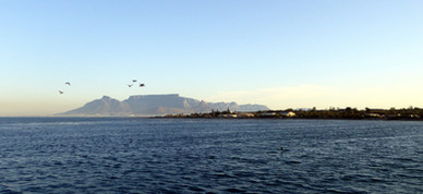 Capetown and Table Mountain viewed from Robben Island