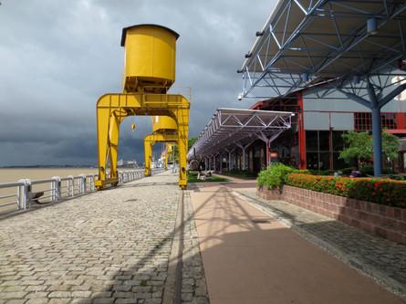Refurbished port with restaurants