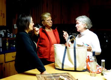Linda Quan Knight (Jo's wife), Zaida, and my sister Judith