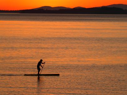 Training at Dusk, Northwest Harbor, Deer Isle