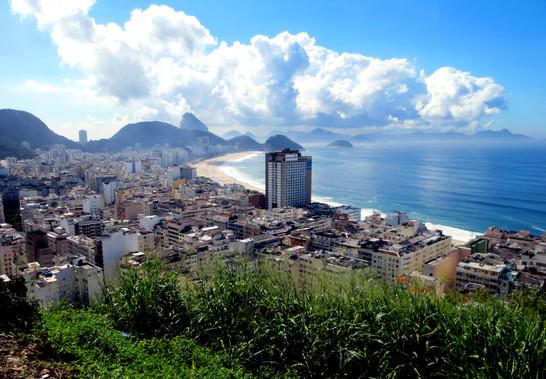 Copacabana from Pavãozinho Favela