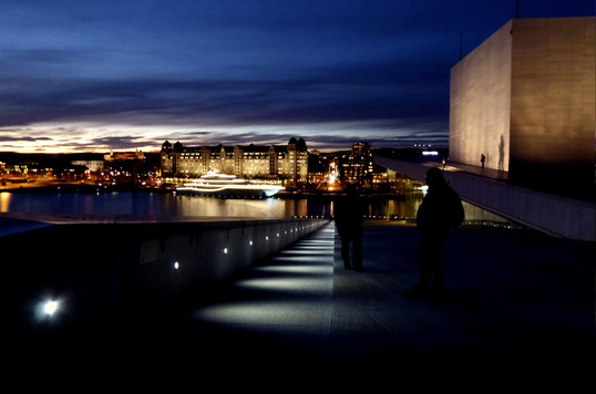 Downtown Oslo from Oslo Opera House