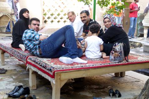 Iranian family relaxes, Kazan, Iran
