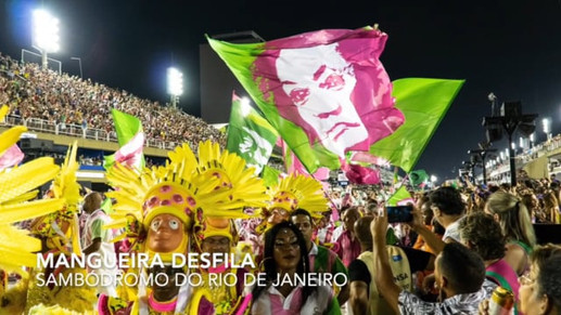 Video of Mangeira samba school procession