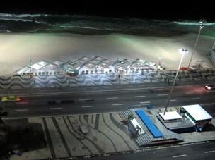 Kiosks on Copacabana Beach