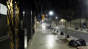 Night street scene, Buenos Aires