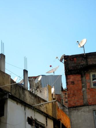 Satellite dishes in Rocinha