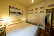 Bedroom master suite view toward door