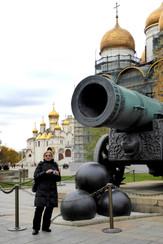 Zaida with Tsar Cannon, Kremlin grounds