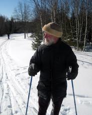 Chris skiing on Deer Isle