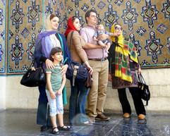 Iranian family in Shah's Palace, Tehran