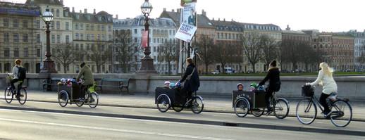Taking children for a ride in Copenhagen