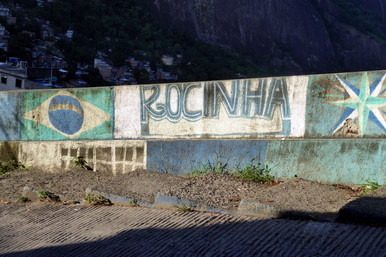 Wall painting in Rocinha