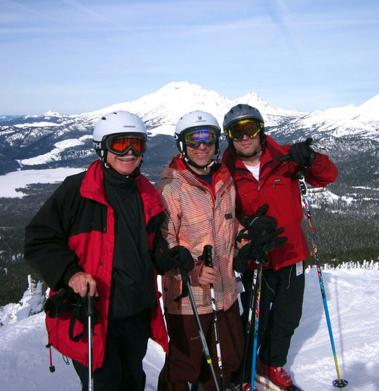 With my sons, Jonathan and Charles at Mt. Bachelor