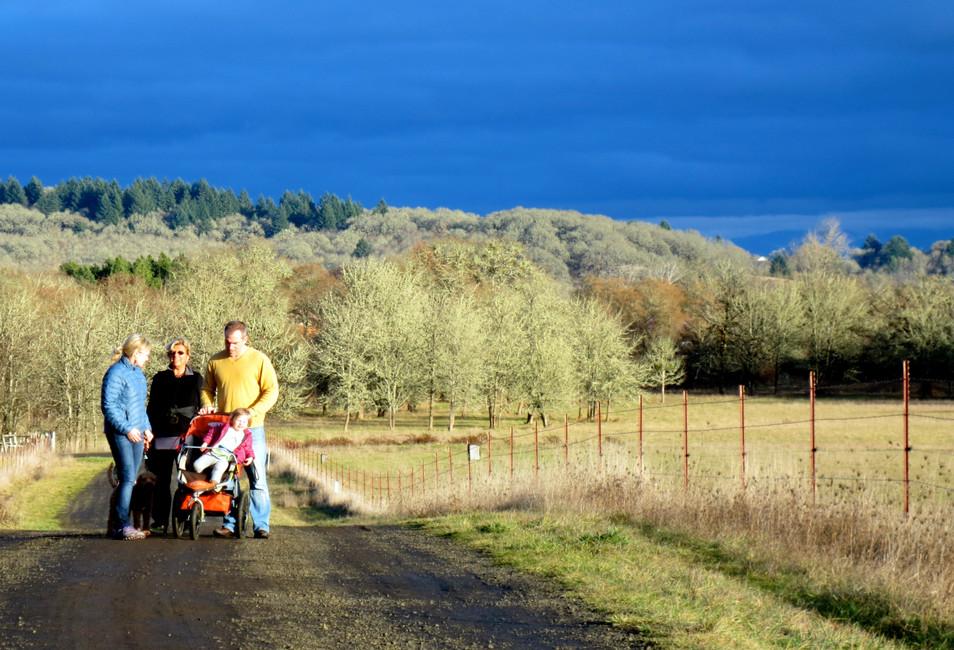 Family walk on Balch Hill, Corvallis
