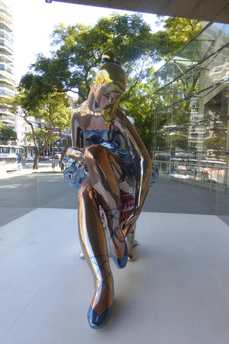 Sculpture outside MALBA, Buenos Aires