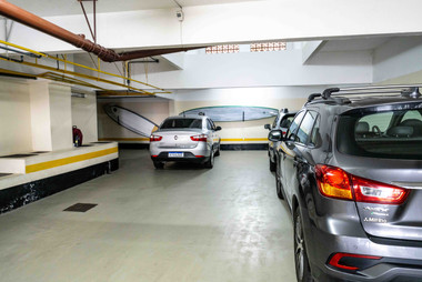 Garage with racks for SUP paddleboards
