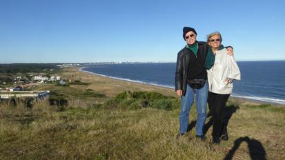 Peter and Zaida, near Punta del Este