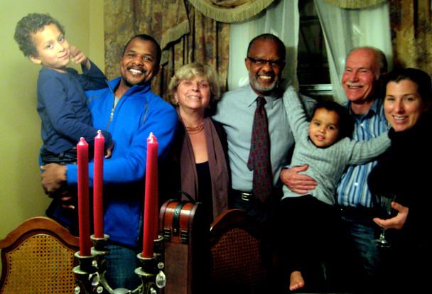 Seraph, Sean, Jezaira, Sean's father Samy, Iris, me, and Jezaira