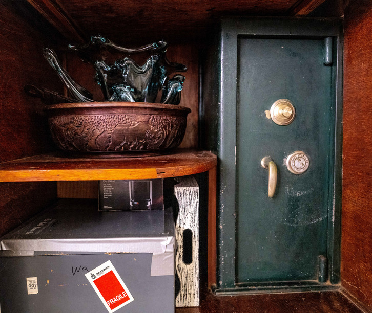 Lower part of dining room closet