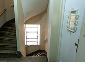 Third floor service entrance and staircase