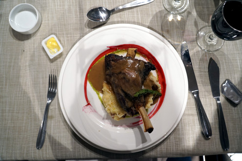 Lamb shank main course