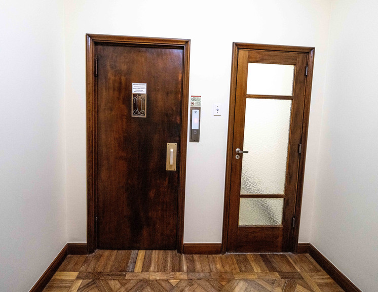 Elevator entrance on third floor.
