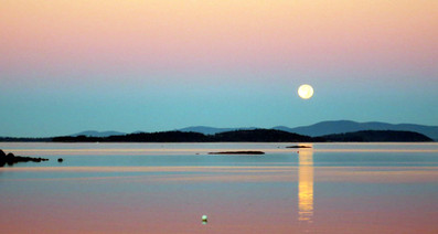 Moonset over Penobscot Bay