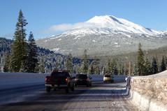 Approaching Mt. Bachelor
