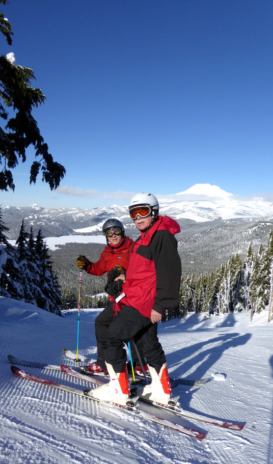 With son Charles at Mt. Bachelor