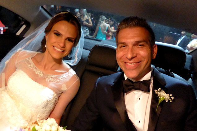 Juliana and Jonathan, just married