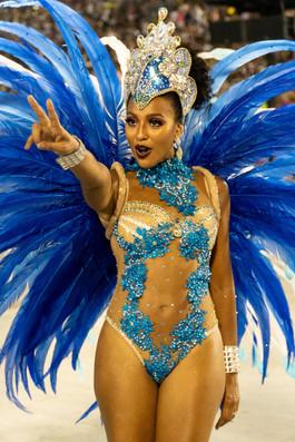 Portela samba school marcher with verve