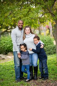 Sean, Iris (daughter), Jezaira, and Seraph (son)