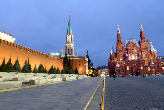 Red Square at dusk
