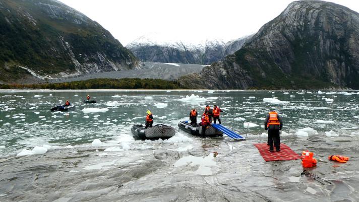 Approaching Pia Glacier