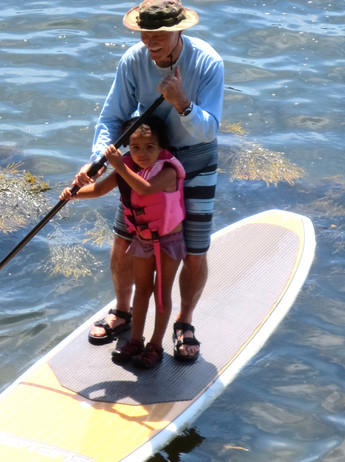 Iris gets a SUP lesson from me
